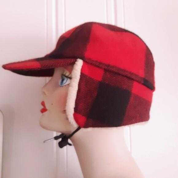 0fe6762e82b958 Filson Garment Co Other - Vintage Red Lumberjack Plaid Winter Trapper Hat